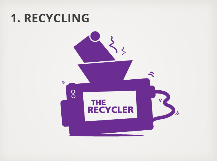 Our Process - 1. Recycling