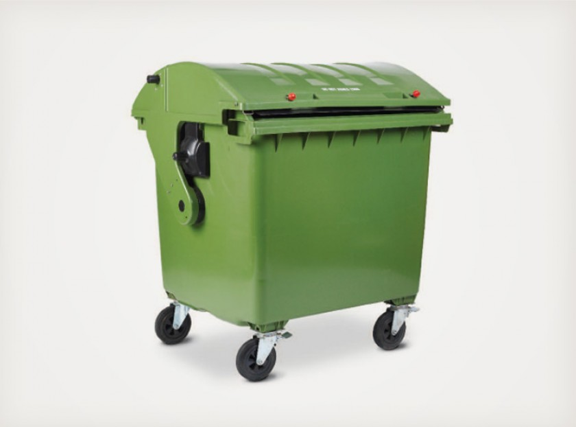 1100 Litre Roll Top Wheelie Bin