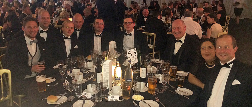 The MGB team at the Barnsley and Rothham awards